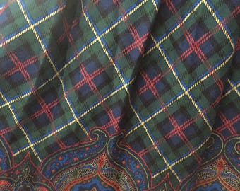 Plaid Pendleton skirt