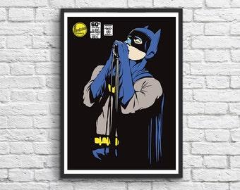 Art-Poster 50 x 70 cm - Batman Rock Singer