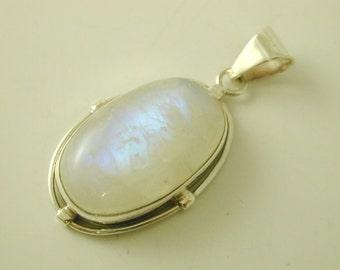 Labradorite oval pendant sterling silver large oval pendant 15.6 grams 51.2mm