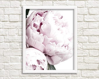 Pink Peonies Print Peony Photography Printable Modern Art Plant Prints Nature Photography Printable Art Instant Download Printable Decor