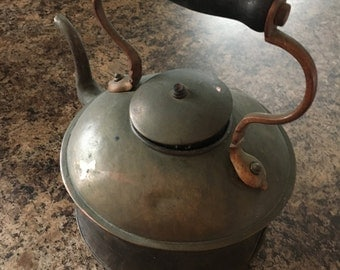 Vintage Rustic Copper Tea Pot