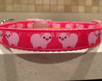 This Little Piggy Small and Medium Dog Collar