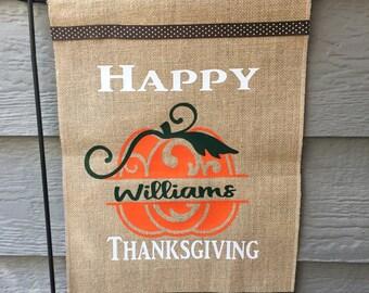 Thanksgiving/ Garden Flag/ Personalize/ Wedding Gift/Housewarming Gift