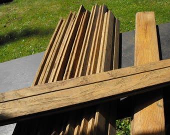 1940s Oak Tongue Groove Flooring Boards, Nine Misc. Short Planks