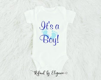 Gender Reveal Onesie | It's a Boy onesie | Newborn onesie | Personalized Onesie |Baby shower gift