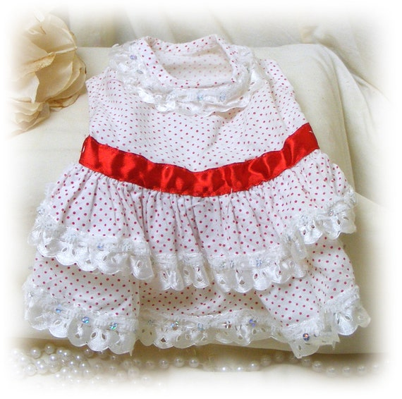Adorable (SMALL) DOGGIE DRESS . . . (Custom Orders Welcome)