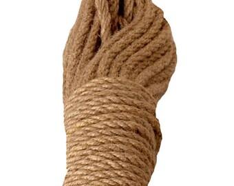 30ft-Natural Hemp Rope/Shibari/Kinbaku/ - Thickness 10 mm - DIY projects