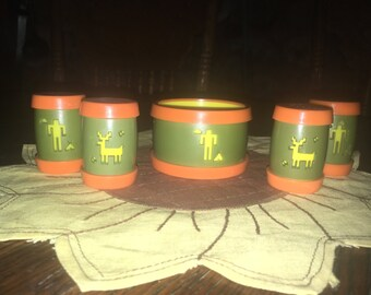 Vintage St. Labre Indian School Sugar And Two Sets Of Salt And Pepper Shakers