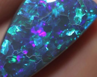 loose natural unmounted Solid Australian Black OPAL Lightning Ridge Fire 6.07ct