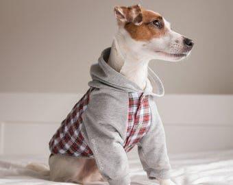 Flannel Dog hoodie, Dog jacket, Dog clothing, Puppy Coat, Dog Pullover, Dog flannel jacket, Dog winter coat, Limited Edition