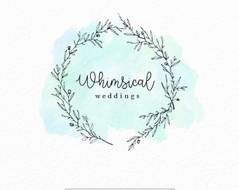Modern Logo | Watercolor Logo | Wedding Logo | Photography Logo | Event Planner Logo | Whimsical | Blog Logo | Floral Logo | Mint Logo