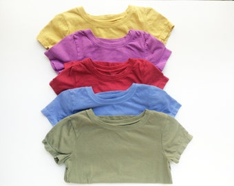Solid Color Baby and Toddler Organic T-shirts