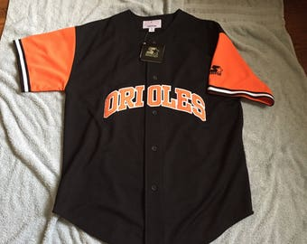 Vintage deadstock Baltimore Orioles starter baseball jersey 90s 80s mlb xxl nwt ripken 2xl button up shirt