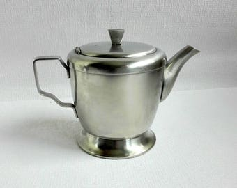 Vintage GERO Zilmeta Tea Pot , Zeist, Holland, Dutch Design, Stainless Steel, 0,5 liter, 1965