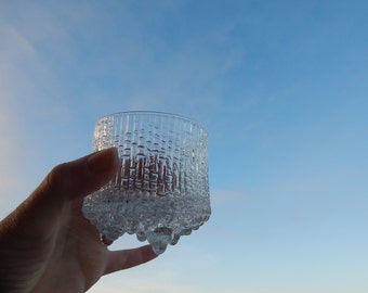 Scandinavian Vintage IIttala Finland Ultima Thule Glasses Footed glasses Designed by Tapio Wirkkala 1968  Finnish Art Glass
