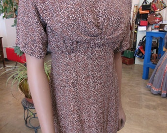 Vintage Carol Little Rayon Dress Size M