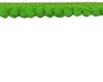 Apple green mini pom pom trim by the yard, 3/8 inch baby pom pom trim, green pom pom trim by the yard, micro pom pom trim for sewing apparel