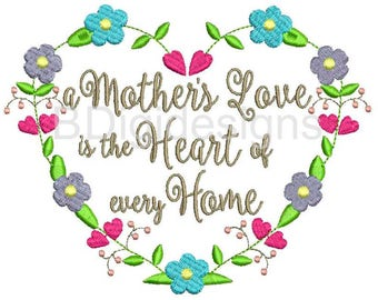Mother's Day Embroidery Design