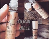 Perfume / Coconut Vanilla / Fragrance oil roll on / roll on perfume / At the Beach / Pocket Perfume / Glass Roll on / Simple Scents /