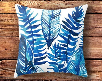 gift for her, mom gift, womens gift, home decor, tropical decor, cushion cover, tropical pillow case, decorative pillows, leaf  floral