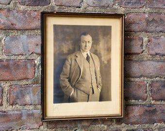 Vintage Photograph Portrait of Business Man