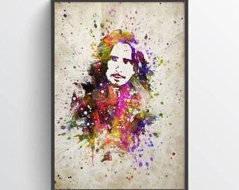 Chris Cornell Print, Chris Cornell Poster, Chris Cornell  Art, Home Decor, Gift Idea