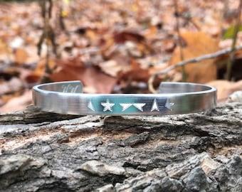 David Bowie Bracelet   star bracelet   Personalized music bracelet   silver cuff