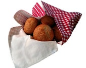 Bread Basket Liner and Warmer in Red and White Check