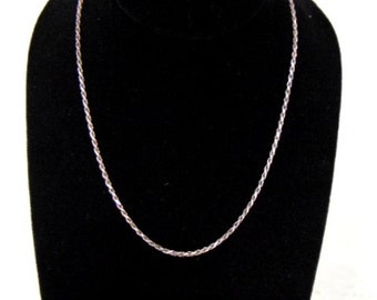 Vintage Estate Sterling Silver .925 Italian Necklace 8.1g E989