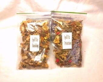 pagan/wiccan  spell mix for banishing or protection Its ingredeants are passed down to me . This banishing or protection  .