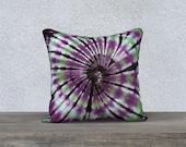 Im freien Tie Dye Throw Pillow - Purple Black Green-Wetter-beständig-UV-Beschichtung-Quadrat Rechteck - 14 x 20, 16 x 16, 18 x 18, 20 x 20