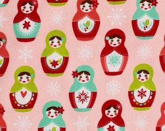 Matryoshka Russian Doll Riley Blake 100% Cotton Flannel F4361 FQ 1/2 Full Metre