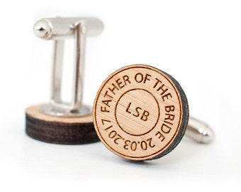 Father of the Bride cufflinks, Wedding Cufflinks, cufflinks for men, cuff links, personalized cuff