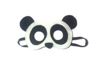 Panda Mask, Panda bear mask, Bear Mask, Kid's Panda mask, Children's mask, Animal mask, Kid's mask, Felt mask