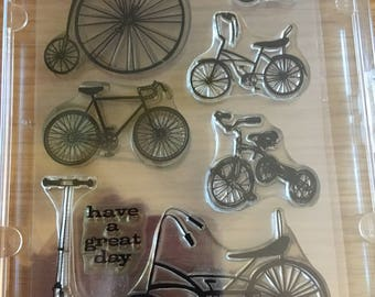 Stamps set - bicycles