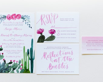 Custom Wedding Invitation Suite