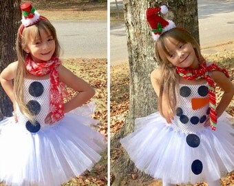 SnowmanTutu Dress / Frosty tutu Dress