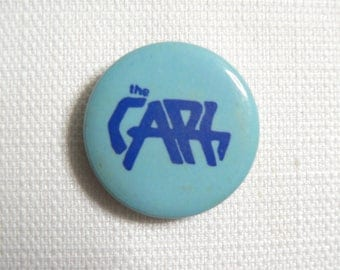 Vintage Late 1970s The Cars Blue on Blue Logo Pin / Button / Badge