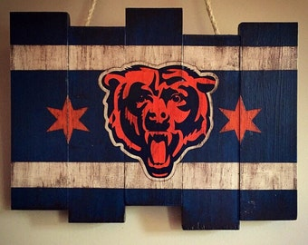 Chicago Bears Wall Art chicago cubs keychain holder custom handdiamondeyeschicago