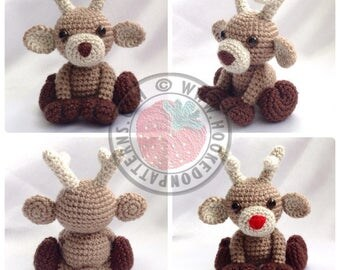 Amiani - Noel the Reindeer - cute amigurumi - Crochet PDF Pattern