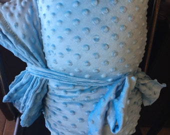 Adult weighted blanket 50x60  14lb  minky dot