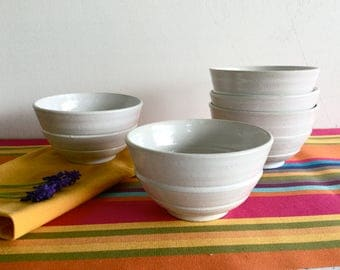 Bowl for breakfast. White stoneware Bowl. 45 cl.