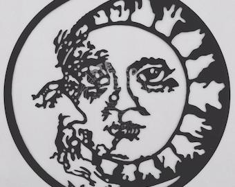 Sun and Moon Framed Vinyl Record Art