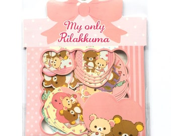 Rilakkuma sticker flakes