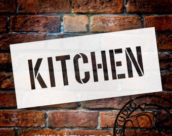 Kitchen - Simple - Word Stencil - Select Size - STCL1835 - by StudioR12