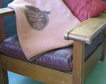 Vintage Canadian Pacific Railway Pure Wool Kenwood Throw Blanket