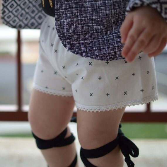 White and Gray Shorts Toddler Shorts Girl Shorts Cluny Lace Trim Shorts White Baby Shorts White Toddler Shorts Lace Trim Gray Girl Shorts