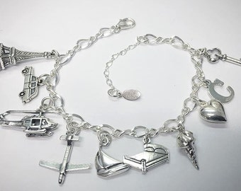Fifty Shades Anastasia Inspired Charm Bracelet