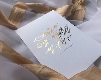 Galatians 5:13 gold foil print