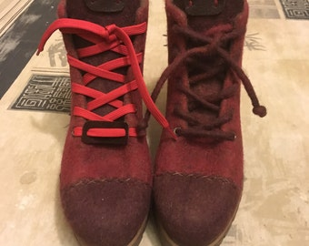 Winter Wooll Boots Wine
